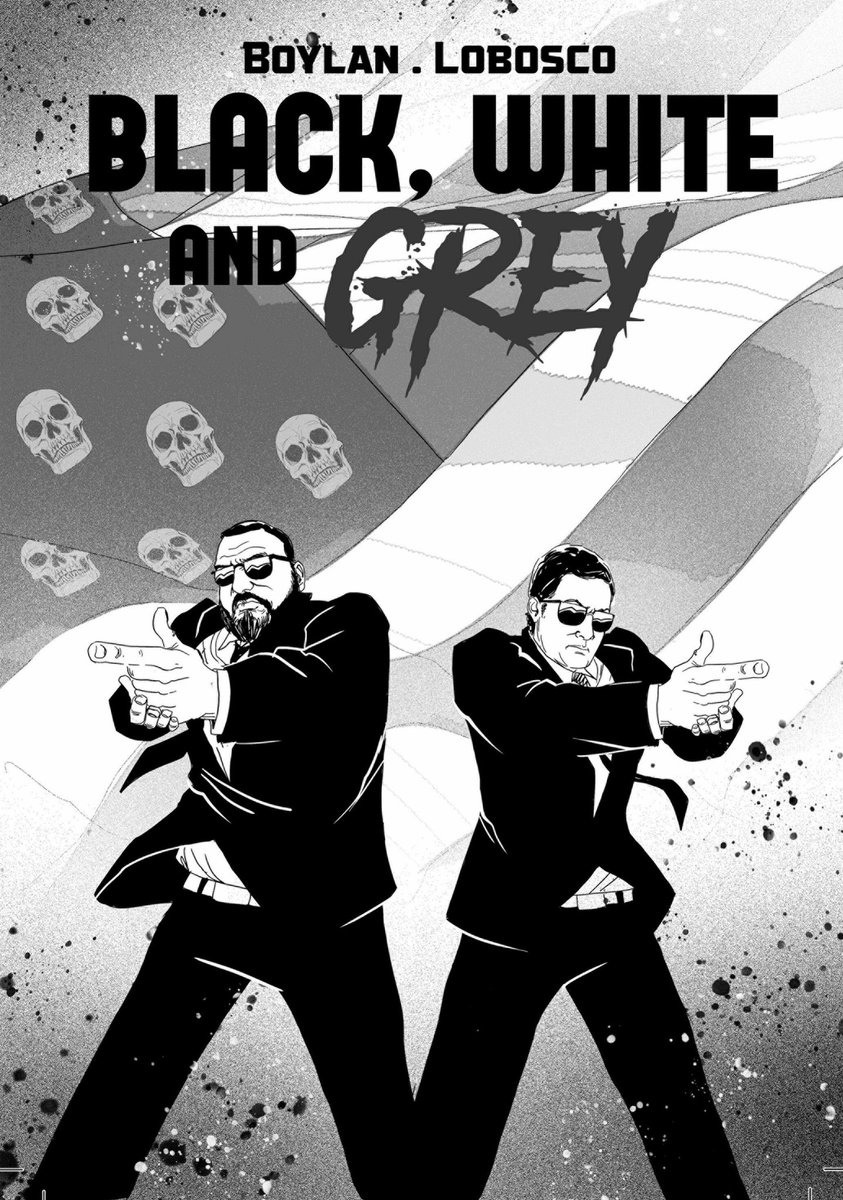 black, white & grey cover